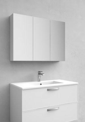 Noro Flex spegelskåp, 90 cm, matt vit