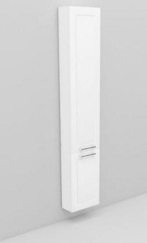 Noro Flexline högskåp, 165 cm, djup: 14 cm, modell 218.2 - 2 dörrar, matt vit ram