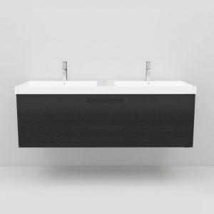 Noro Relounge möbelpaket 120x42 cm, svart matt fanér
