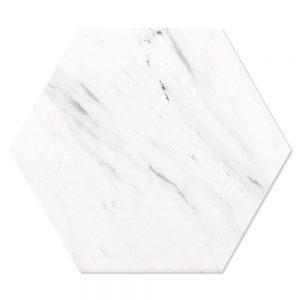 Marmor Hexagon Klinker Alcamo Carrara Hex 25 Vit 25x22 cm
