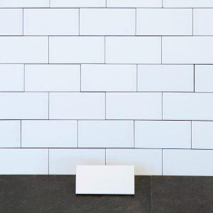 Kakel Color Blanco Liso Brillo 8x15 cm