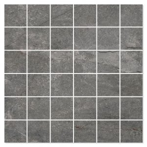 Marmor Mosaik Klinker Elegant Mörkgrå Polerad 30x30