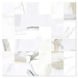 Marmor Mosaik Klinker Fornasetta Vit Polerad 30x30