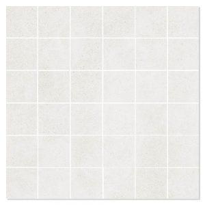 Mosaik Klinker Luna Vit Matt 30x30