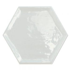 Hexagon Klinker Luxe Basic Ljusgrå Blank 20x23 cm