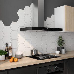 Hexagon Klinker Luxe Basic Vit Matt 20x23 cm