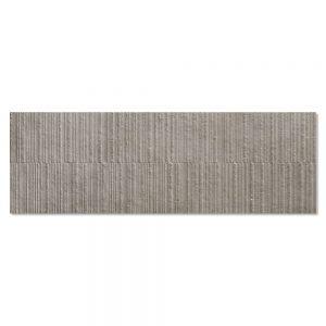 Kakel Habitat Mörkgrå Matt-Relief 40x120 cm