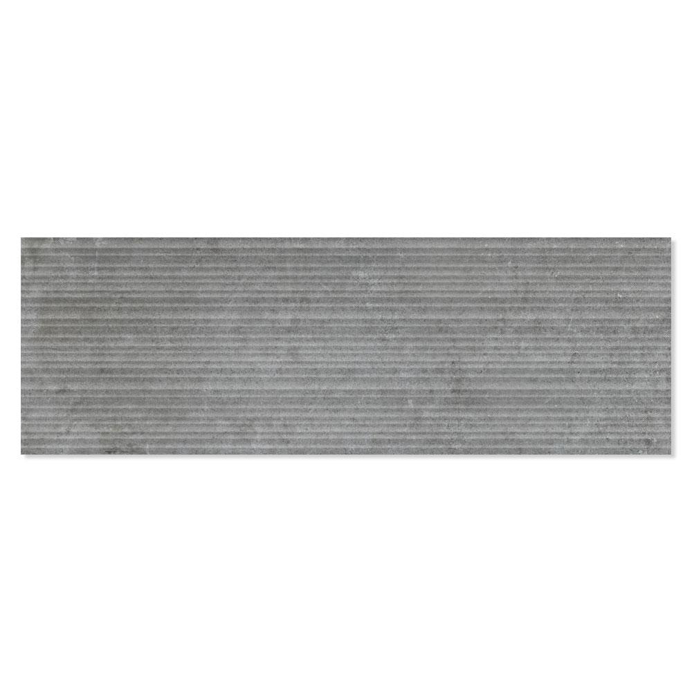 Kakel Semproniano Mörkgrå Matt-Relief 30x90 cm