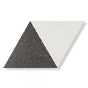 Klinker Diamond Vit-Svart 40x70 cm