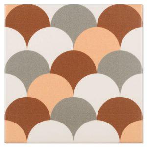 Klinker Fontenay Marivent Naranja Flerfärgad Matt 15x15 cm