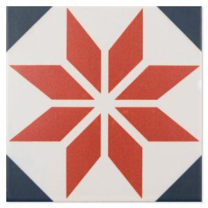 Klinker Fontenay Red Flerfärgad Matt 15x15 cm