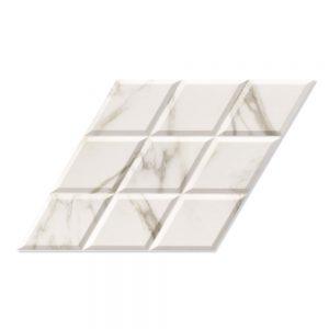 Marmor Klinker Diamond Ljusgrå Mönstrad1 40x70 cm