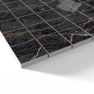 Pegaus Marmor Mosaik Klinker Svart Blank 5x5 cm