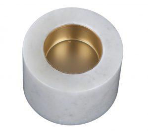 Svensk Marmor Värmesljushållare Vit Marmor 2-pack