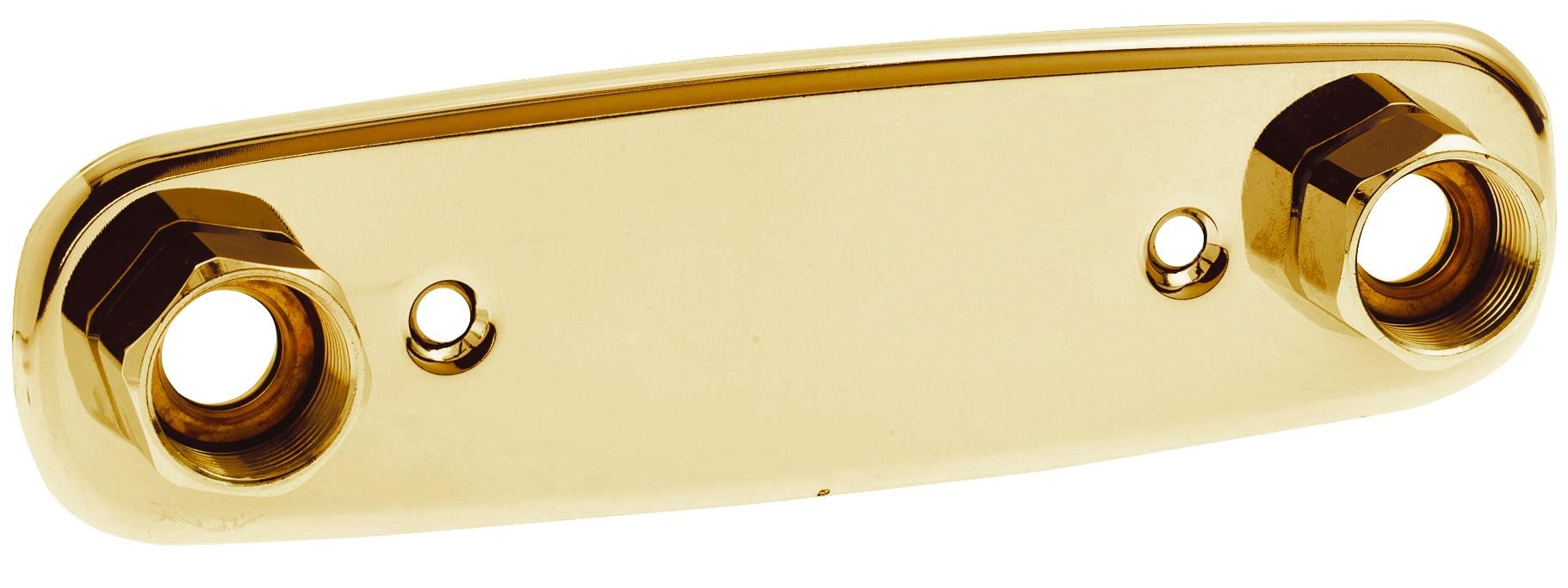 Duschbyggarna Blandarbricka För Dold Rördragning 160 mm c/c Guld Kopparrör diam 12 eller 15 mm