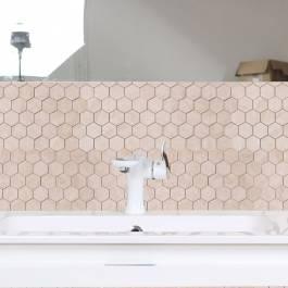 Mosaik Hexagon Carrara Beige Gani Beige