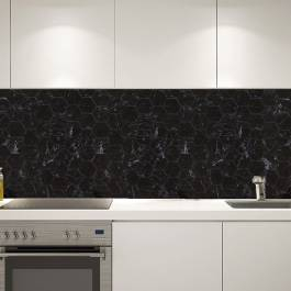 Mosaik Hexagon Carrara Black Gani Svart