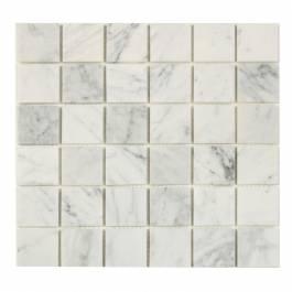 Mosaik White Marble Grey Nordic kakel Vit