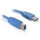 USB A till USB B Kabel DELOCK 82582 5 m Han-till-han koppling Blå